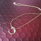 Ladies Stylish Silver Circle Decor with Thin Chain Necklace