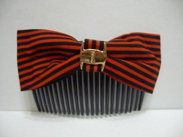 Ladies Multi-Color Stripes Print Hair Comb