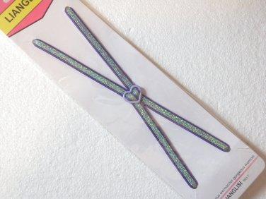 Woman's Glittering Multi-Color Thin Spaghetti Elastic Adjustable Bra Straps