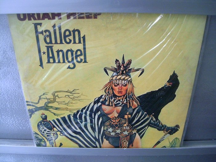 URIAH HEEP Fallen Angel GATEFOLD LP 1978 ROCK**