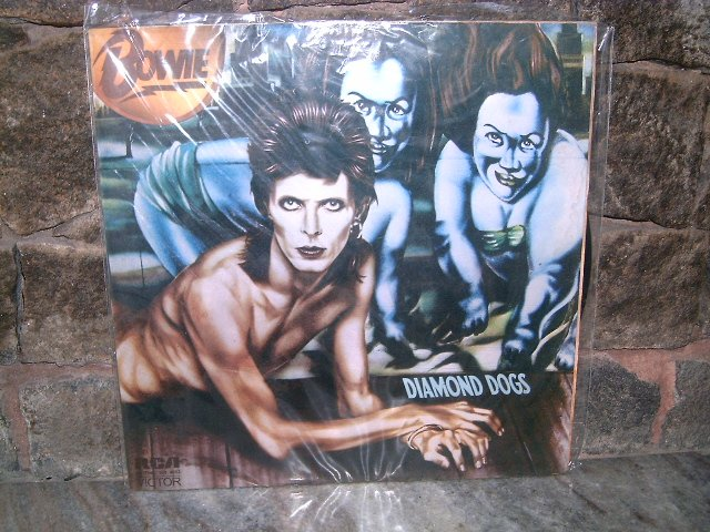 DAVID BOWIE Diamond Dogs LP 1974 GLAM ROCK MUITO RARO VINIL