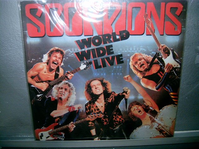 SCORPIONS world wide live LP 1985 ROCK SEMI-NOVO MUITO RARO VINIL