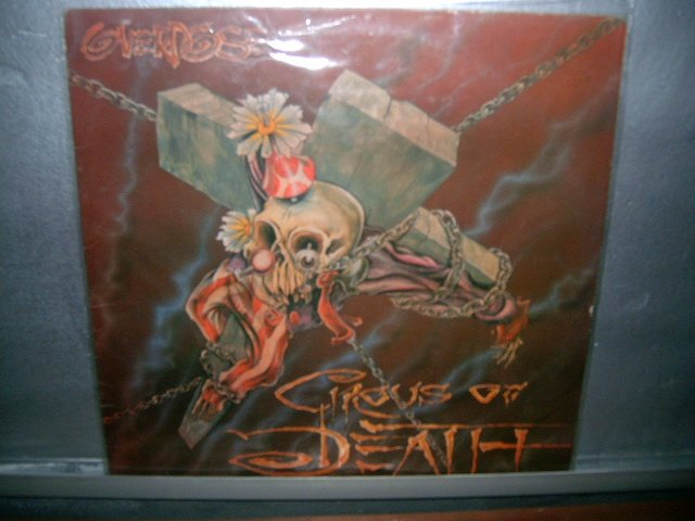 OVERDOSE circus of death LP 1992 METAL MUITO RARO VINIL