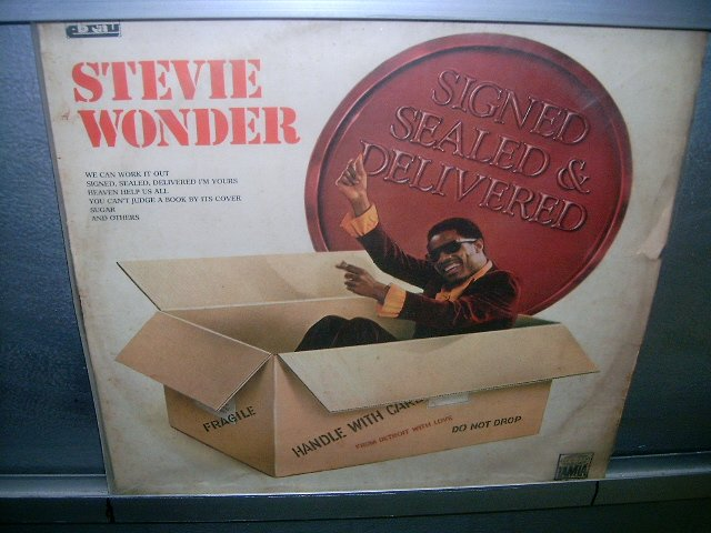 STEVIE WONDER signed sealed & delivered LP 1969 BLACK MUSIC MUITO RARO VINIL