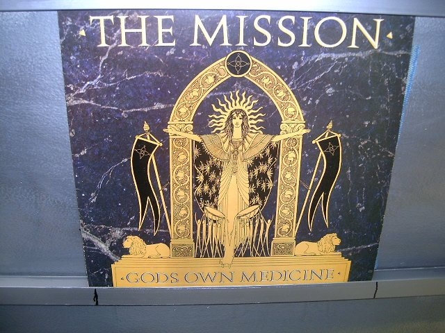 THE MISSION god's own medicine LP 1986 ROCK G�TICO SEMI-NOVO MUITO RARO VINIL