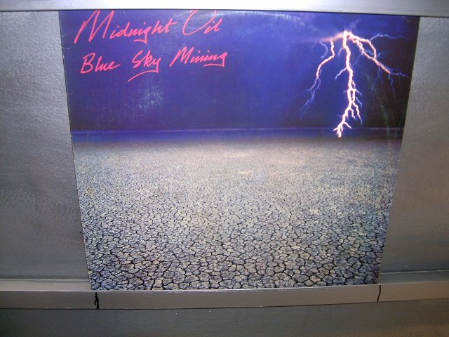 MIDNIGHT OIL blue sky mine LP 1989 ALTERNATIVO SEMI-NOVO MUITO RARO VINIL