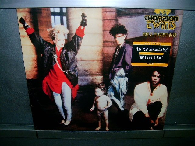 THOMPSON TWINS here's to future days LP 1985 ALTERNATIVO SEMI-NOVO MUITO RARO VINIL