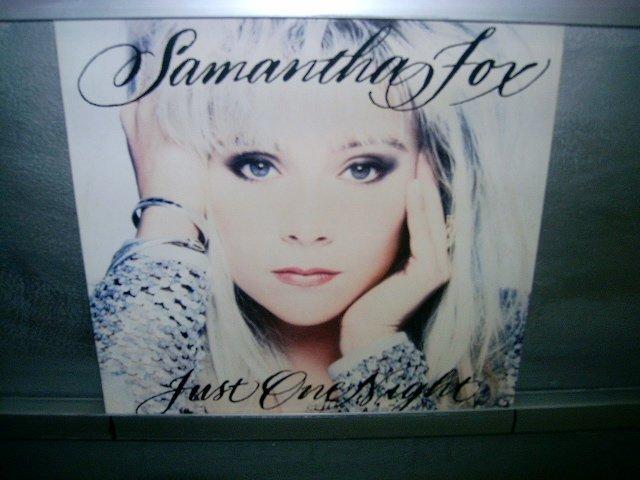 SAMANTHA FOX just one night LP 1991 POP SEMI-NOVO MUITO RARO VINIL