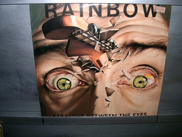 RAINBOW straight between the eyes LP 1982 ROCK EXCELENTE MUITO RARO VINIL