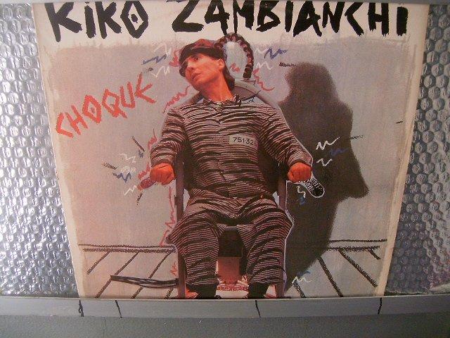 KIKO ZAMBIANCHI choque LP 1984 ROCK EXCELENTE MUITO RARO VINIL