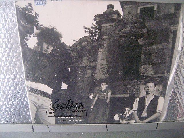 PLEBE RUDE o concreto já rachou LP 1985 ROCK SEMI NOVO MUITO RARO VINIL