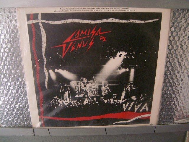 CAMISA DE V�NUS ao vivo LP 1986 ROCK MUITO RARO VINIL
