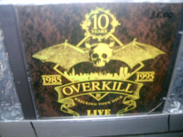 OVERKILL wrecking your neck live 2CD 1995 THRASH METAL