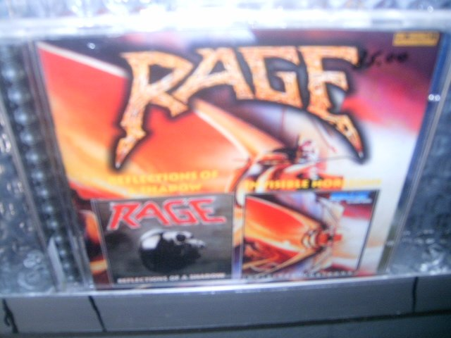 RAGE reflections of a shadow invisible horizons CD 1990/1989 HEAVY METAL