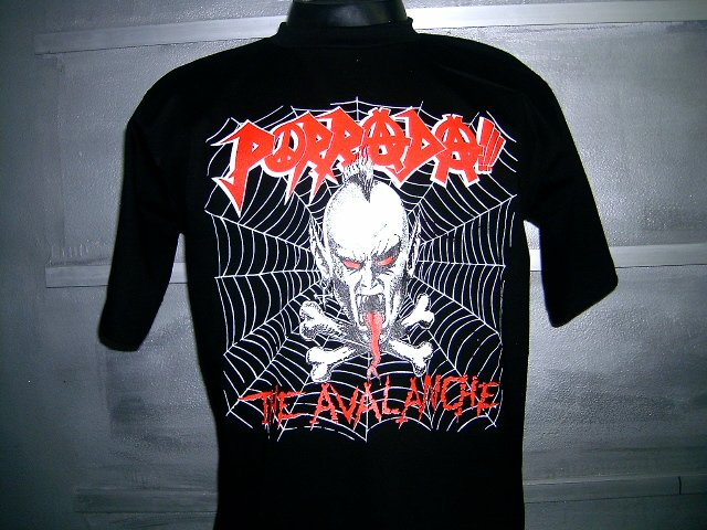 PORRADA the avalanche T SHIRT BLACK L