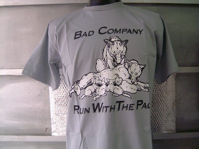 BAD COMPANY run with the pack T SHIRT GRAY L