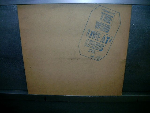 THE WHO live at leeds LP 1969 ROCK MUITO RARO VINIL