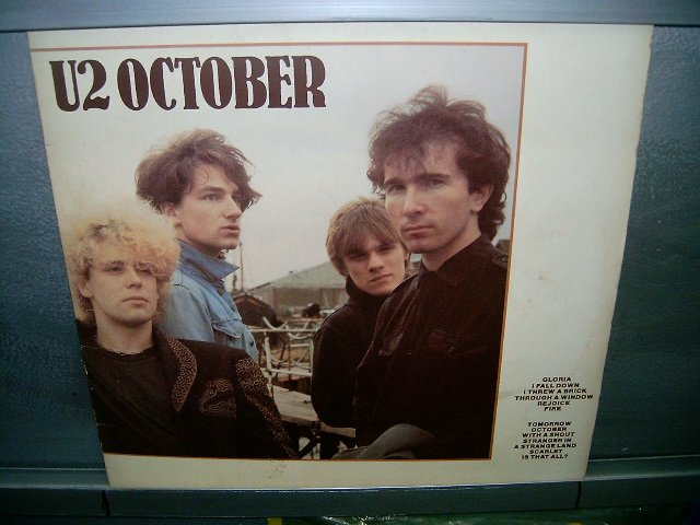 U2 october LP 1987 ROCK SEMI-NOVO MUITO RARO VINIL