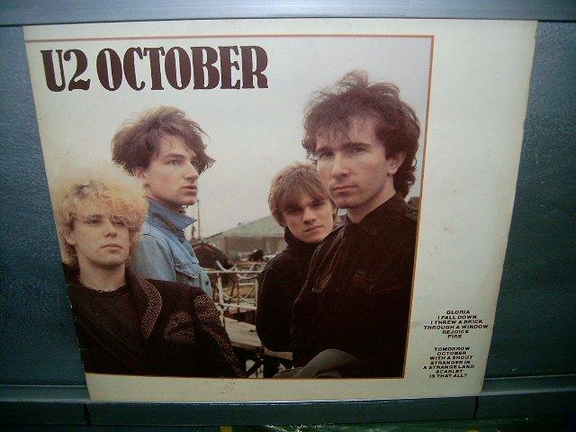 U2 october LP 1987 ROCK SEMI-NOVO MUITO RARO VINIL