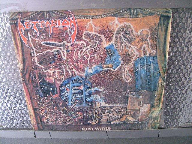 METALLION quo vadis LP 1987 HEAVY METAL MUITO RARO VINIL