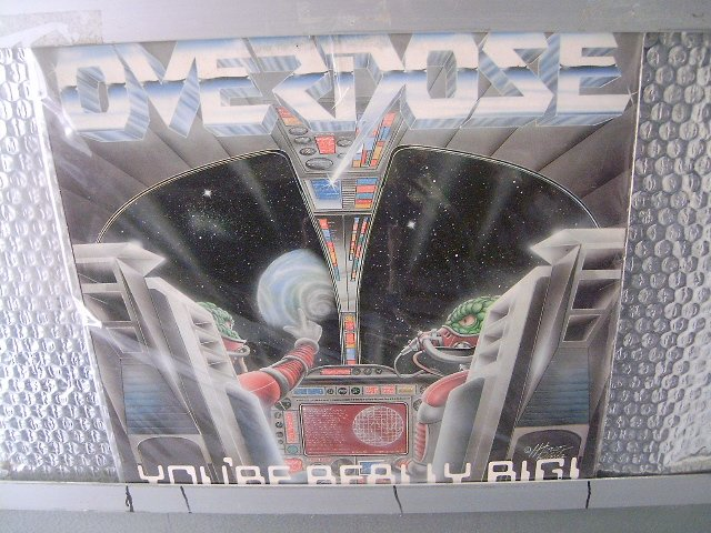 OVERDOSE you're really big LP 1989 HEAVY METAL MUITO RARO VINIL