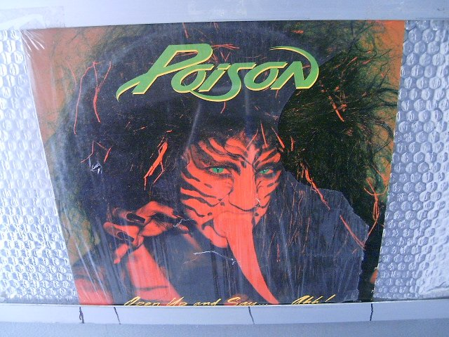 POISON open up and say...Ahh! LP 1988 HARD ROCK MUITO RARO VINIL