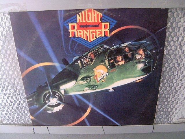 NIGHT RANGER 7 wishes LP 1985 HARD ROCK MUITO RARO VINIL