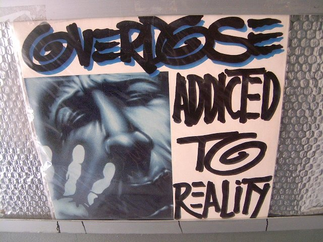 OVERDOSE addicted to reality LP 19? THRASH METAL MUITO RARO VINIL