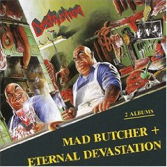 DESTRUCTION mad butcher / eternal devastation CD 1987 THRASH METAL