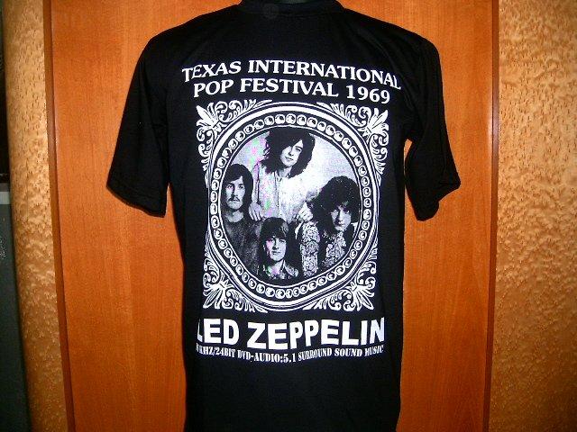LED ZEPPELIN  texas international pop festival 1969 T SHIRT BLACK L