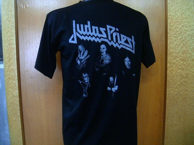 JUDAS PRIEST T SHIRT  BLACK    L