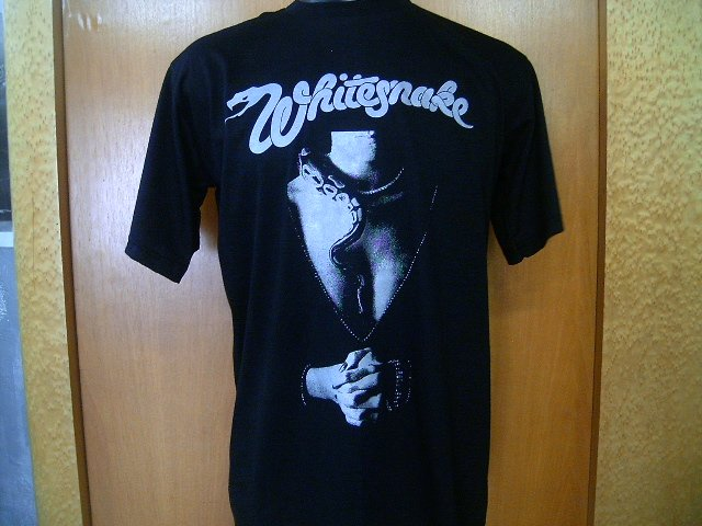 WHITESNAKE  T SHIRT  BLACK    L