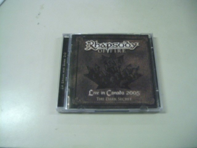 RHAPSODY OF FIRE live in canada 2005 - the dark secret CD + DVD 2005 HEAVY METAL