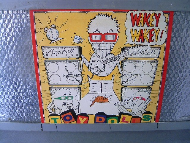 TOY DOLLS wakey wakey LP 1990 POP PUNK ROCK