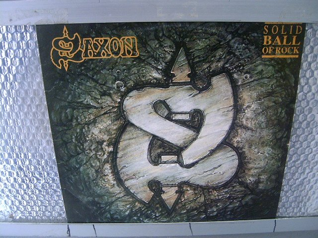 SAXON solid ball of rock LP 1991 HEAVY METAL