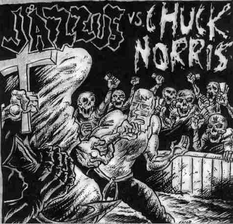 J�ZZUS VS CHUCK NORRIS jäzzus vs chuck norris SPLIT CD ? HARDCORE