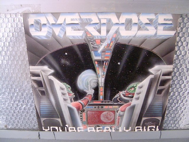 OVERDOSE you're really big ! LP 1989 HEAVY METAL