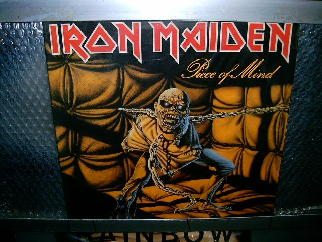 IRON MAIDEN piece of mind LP 1983 HEAVY METAL