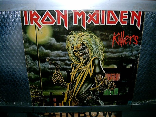 IRON MAIDEN killers LP 1981 HEAVY METAL
