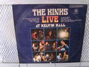 THE KINKS live at kelvin hall LP 1967 ROCK**