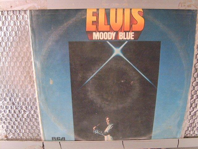 ELVIS moody blue LP 1977 ROCK**