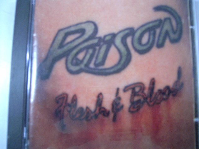 POISON flesh & blood CD 1990 GLAM HARD ROCK
