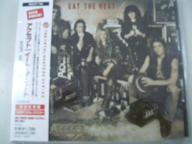ACCEPT eat the heat CD 1989 HEAVY METAL