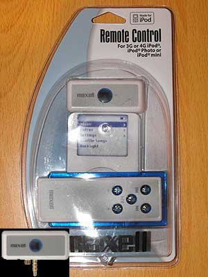 Maxell Remote Control for iPod 3G, 4G, Photo or Mini