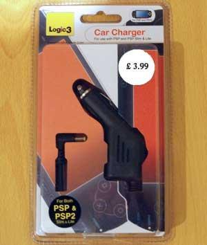 Logic 3 Car Charger for PSP / PSP Slim & Lite