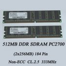 Infineon 512MB PC2700 DDR SDRAM (2x256MB)