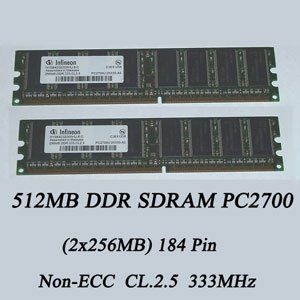 Infineon 512MB PC2700 DDR SDRAM (2x256MB)