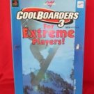 Cool Boarders 3 official guide book / Playstation,PS1
