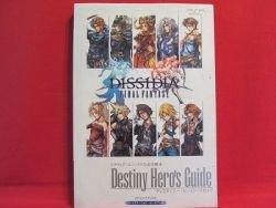 Dissidia Final Fantasy destiny hero's guide book / PSP