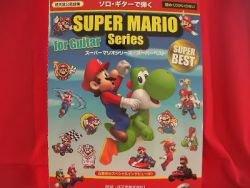Nintendo Super Mario Series Guitar 34 sheet music book w/CD